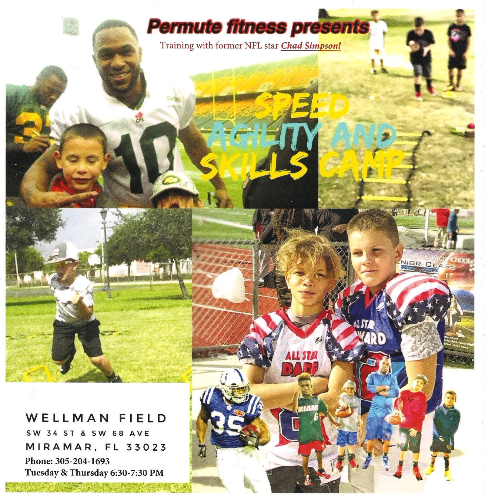 After School Programs Available with Former NFL Star Chad Simpson.
